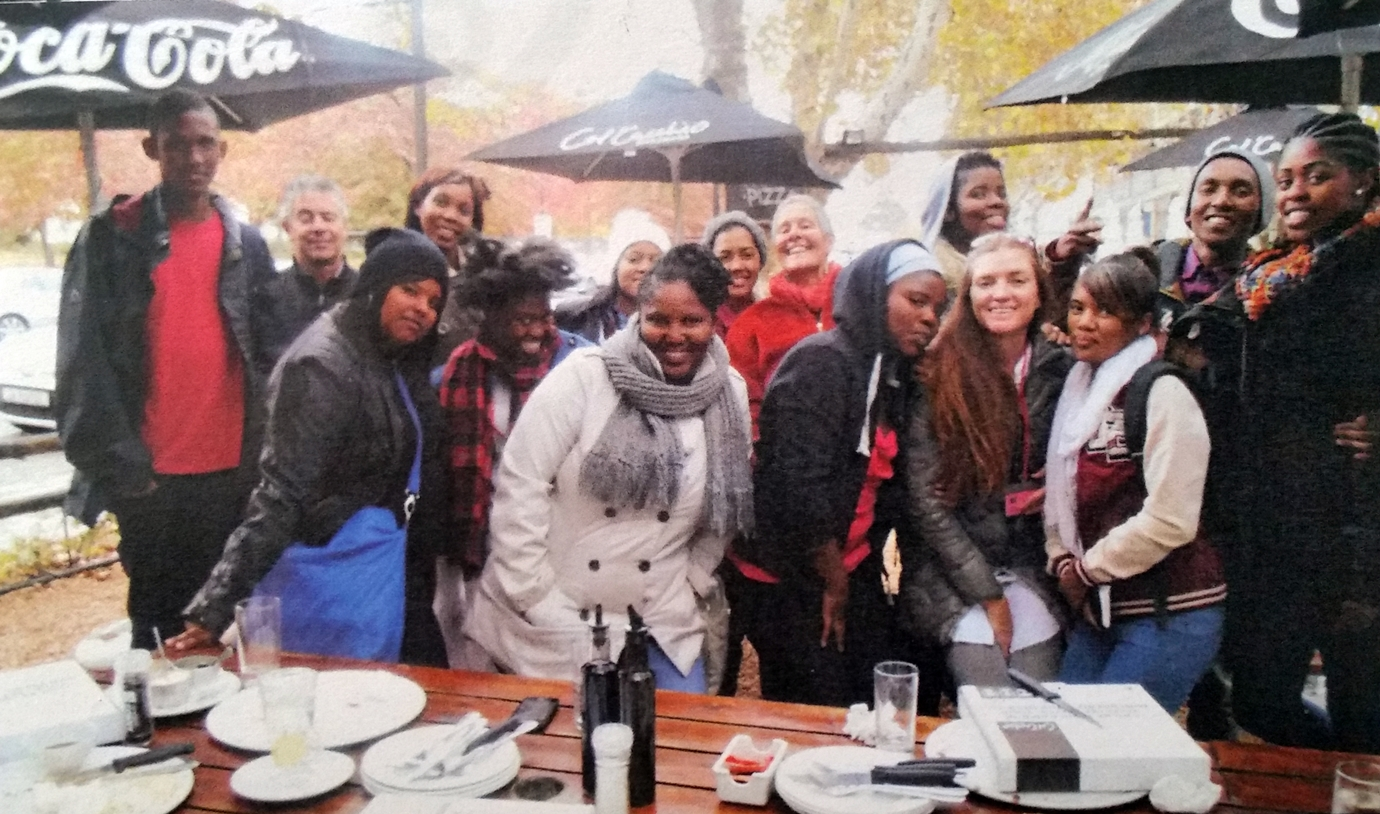 False Bay College students at Franschhoek Literary Festival