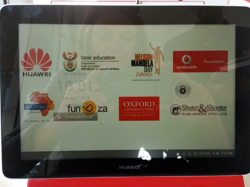 Launch of e-Libraries programme with Vodacom