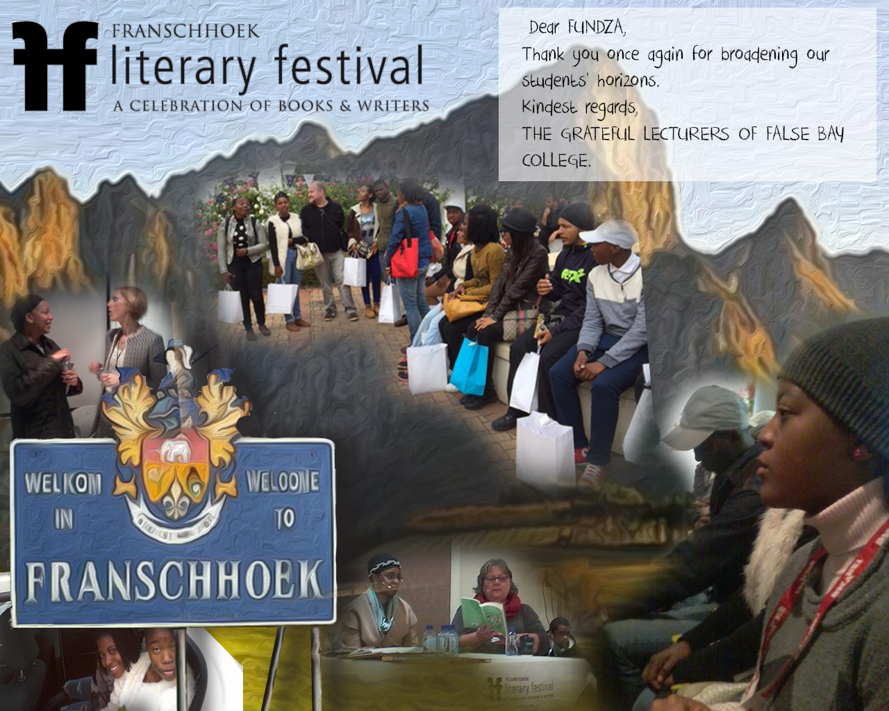 Getting inspired at Franschhoek Literary Festival