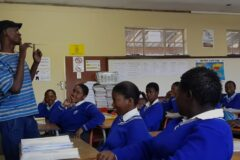 Writer Lawrence Simelane visits Grade 9 learners in Soweto
